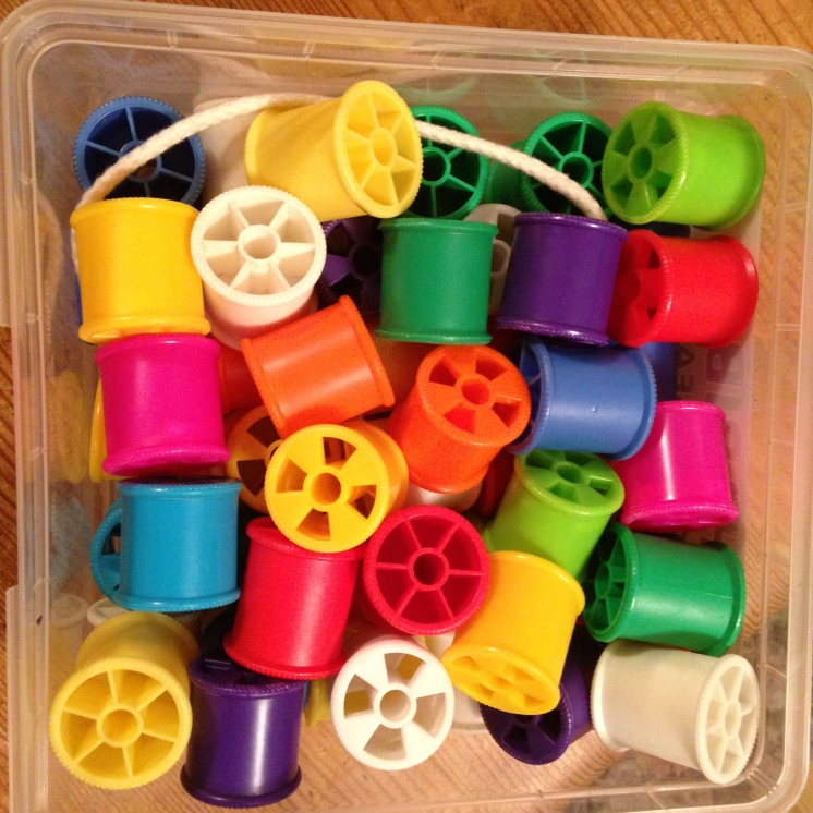 Cotton reels for threading games
